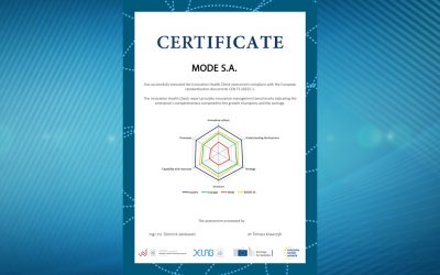 MODE S.A. Innovation Health Check Certificate