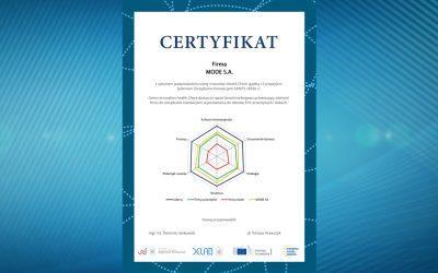MODE S.A. Certyfikat Innovation Health Check